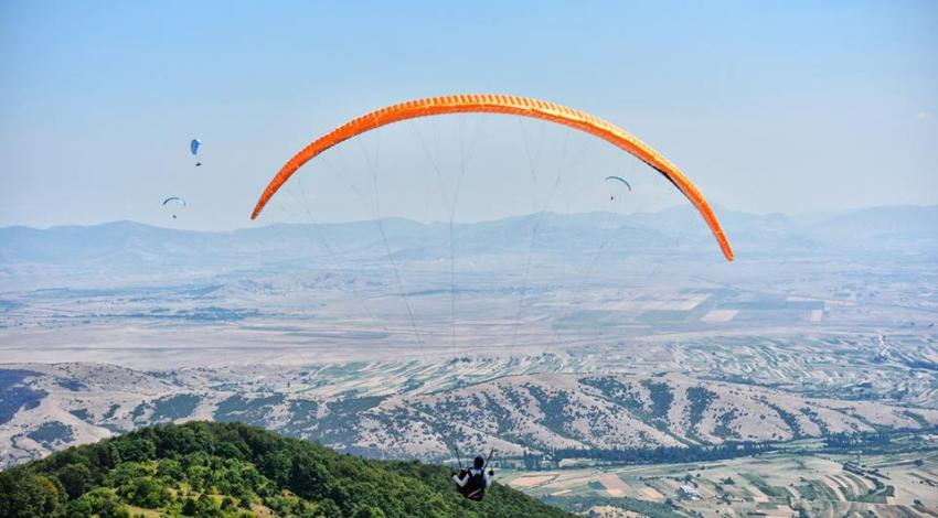 When  paragliding